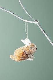 straw bunny ornament anthropologie
