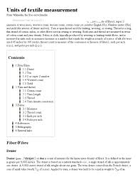 units of textile measurement wikipedia the free encyclopedia