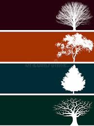 four tree banners stock vector image of tree silhouettes 5353016