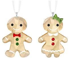 gingerbread ornament set decorations swarovski shop