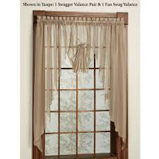 Swag Curtains With Valance Emelia Sheer Swag Valances And Window Treatments
