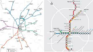 Blue Line Metro Map by Map Atlanta Transit Options To Get You Through City Without I 85