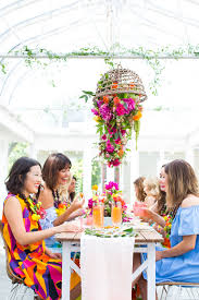 our tropical garden party and diy fruit necklaces for summer
