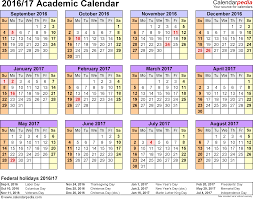 term planner template academic calendars 2016 2017 as free printable excel templates template 4 academic calendar 2016 17 for excel landscape orientation year at