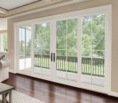 French Doors With Blinds In Glass Charming Exterior Sliding Glass Doors With Blinds With Exterior