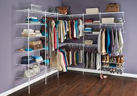 Hanging Closet Shelves by Simple Dressing Room With Closet Maid Cabinets Closet Organizer
