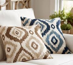 embroidered ikat pillow cover pottery barn