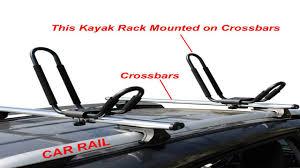Car Top Carrier Cross Bars Apontus Universal Kayak Roof Rack J Bar 2 Pairs Youtube