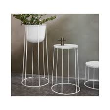 white outdoor side table menu wire marble table white large black by design