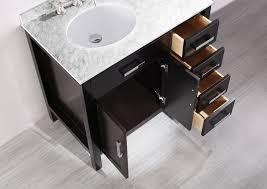 Contemporary Bathroom Sinks Bosconi 36 Inch Contemporary Single Sink Bathroom Vanity