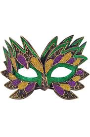 green mardi gras mask fiery angel mardi gras mask green purecostumes