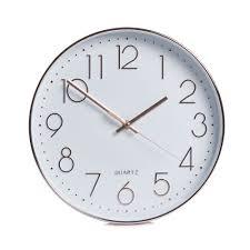 wilko classic wall clock copper effect at wilko com