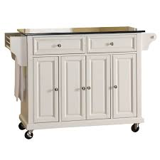 stainless steel portable kitchen island kitchen wallace kitchen cart with counter stainless steel top
