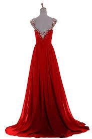 amazon com emma y luxury v neck prom gowns party dresses chiffon