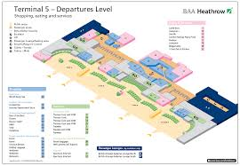 London Airports Map Terminal 5 Heathrow U2014 Departures Airport Layouts Of United