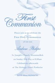 communion invitation personalised communion invitations boy new design 1