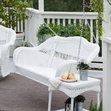 Fake Wicker Patio Furniture by Coral Coast Casco Bay Resin Wicker Porch Swing With Optional