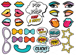 25 printable pop art photo props by design is yay on creative