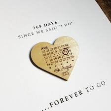paper anniversary paper anniversary calendar heart print by design by eleven