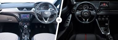 vauxhall corsa 2017 interior vauxhall corsa vs mazda 2 which supermini is best carwow