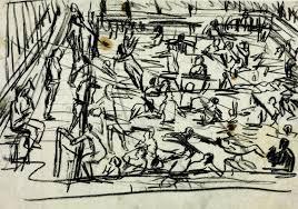 drawing for u0027children u0027s swimming pool u0027 u0027 leon kossoff 1971 tate
