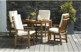 parsons 9pc wooden garden dining set with cushions out u0026 out ori