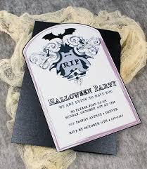 halloween invitation template with bat tombstone u2013 download u0026 print