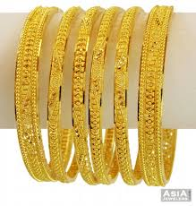 gold bangle bracelet sets images 22k exclusive bangle set 6 pcs ajba57692 22kt yellow gold jpg