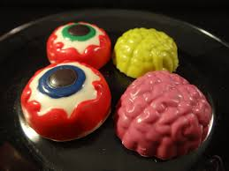 candy melt demo 11 halloween eyeball and brain candy cookie mold