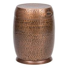small patio side table livingroom bombay outdoors antique copper madras drum patio side