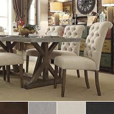 furniture cool fabric upholstered dining chairs