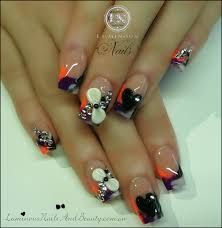 black and white nail designs with rhinestones