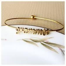 Custom Personalized Jewelry Custom Personalized Name Bangle Bracelets By Tom Design On Etsy