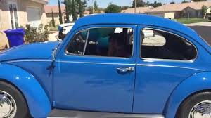 old blue volkswagen 16 year old surprised with her dream car 1967 volkswagen bug