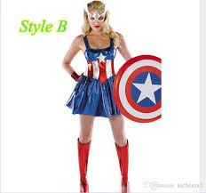 Captain America Halloween Costumes Women U0027s American Captain America Avengers Costume Lady Glue