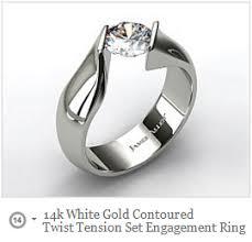 tension engagement rings best tension set ring designs mind blowing rings