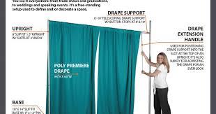 Free Standing Drapes What Is Pipe And Drape Georgia Expo U2026 Pinteres U2026