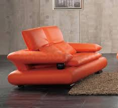 Orange Leather Chair 410 Loveseat 1 200 00 Furniture Store Shipped Free In Usa Nyc