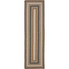 Hallway Runners Walmart by Shop Safavieh Braided Charleston Brown Multi Rectangular Indoor