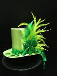 cute green satin st patrick u0027s day mini top hat for party tea