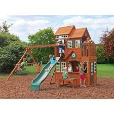 outdoor u0026 garden design awesome cedar summit playset for kids