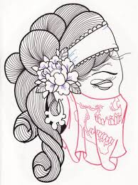 gypsy woman sugar skull tattoo design 2 tattoos book 65 000