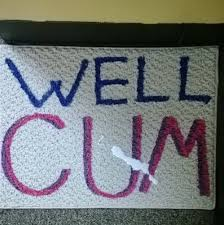 a guy on my floor made a new welcome mat funny