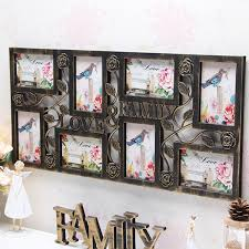 hanging home decor plastic collage hanging photo frame love family picture display