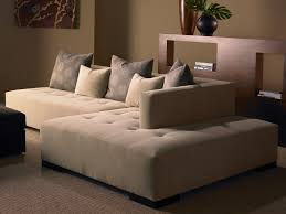 Small Sofas And Loveseats Furniture Black Leather Armless Loveseat With Wood Legs For Home