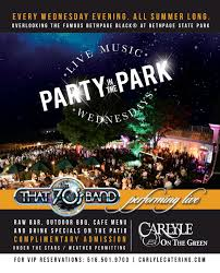 summer 2017 party in the park wednesdays carlyle on the green