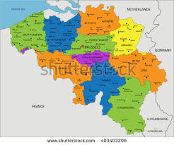 belgium and map colorful belgium political map clearly labeled stock vector