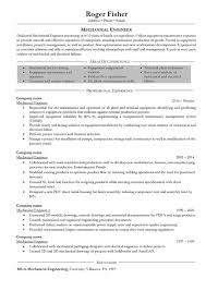 mechanical engineering resume mechanical engineer resume sles and writing guide 10 exles