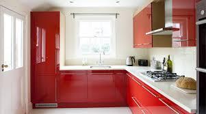 kitchen red bespoke red kitchen with oak wood finish amberth interior design
