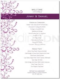 wedding program design template one page wedding program template best business template